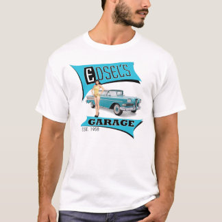 El garaje de Edsel en azul Camiseta
