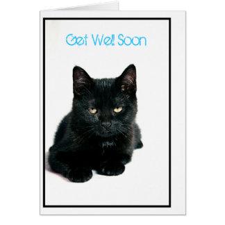 el gatito, consigue bien pronto tarjeta pequeña