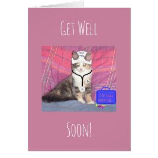 El gatito de la enfermera principal consigue bien tarjeta de felicitación