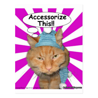 ¡El gatito del hippy complementa esto!! Postal