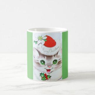 El gatito más dulce del navidad del vintage taza de café
