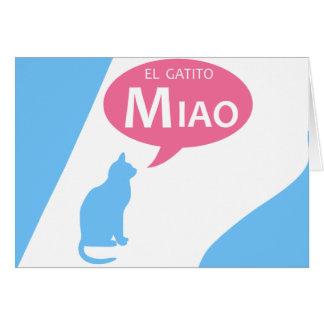 EL Gatito Miao Tarjeta De Felicitación