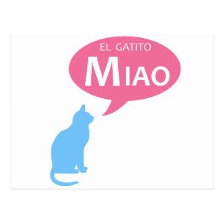 EL Gatito Miao Postal