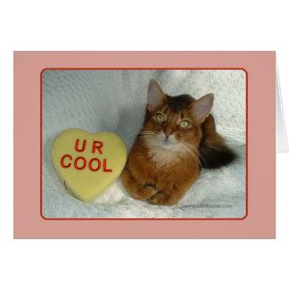 El gatito U R de la tarjeta del día de San