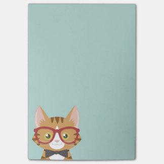 El gato anaranjado del inconformista del Tabby Notas Post-it®