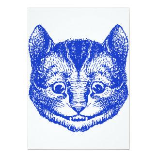 El gato de Cheshire entintó el azul Invitación 12,7 X 17,8 Cm
