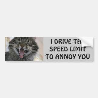 El gato de parachoques molesta reductores de pegatina para coche