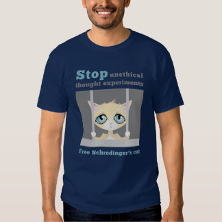 El gato de Schrodinger libre Camisas