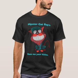 El gato del inconformista dice camiseta