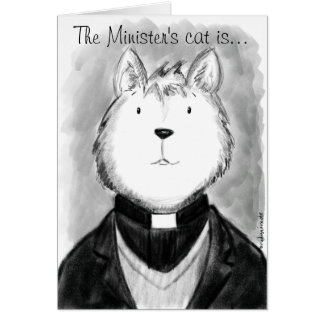 El gato del ministro es… tarjeta de felicitación