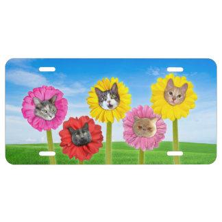 """El """"gato florece"""" la placa divertida del jardín"""