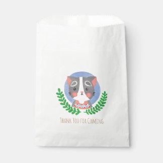 El gato lindo bolsa de papel