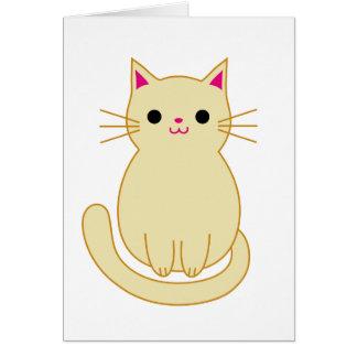 El gato lindo le agradece cardar tarjeta de felicitación