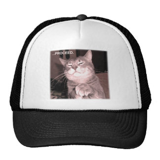 El gato malvado dice procede con el plan maestro gorras de camionero