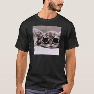 El gato más fresco vivo - camiseta negra para los