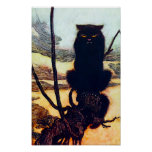 El gato negro impresiones