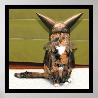 El gato nórdico no se divierte posters