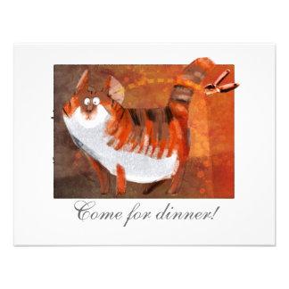 el gato oye un abrelatas invitación