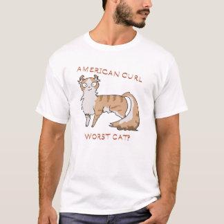 ¿El gato peor del rizo americano? Camiseta