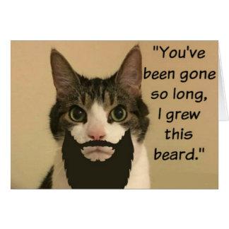 El gato que le falta carda tarjeta