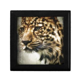 El gato salvaje del leopardo mancha safari de la n cajas de regalo
