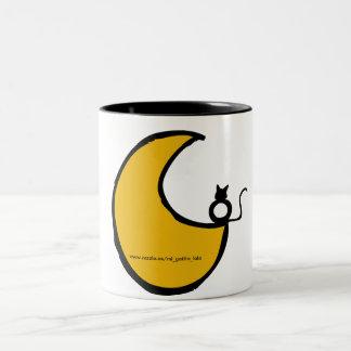 El gato y la luna tazas de café