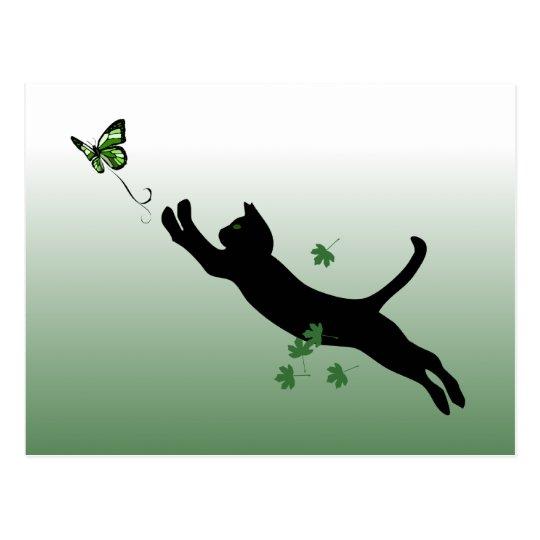 El gato y la mariposa postal