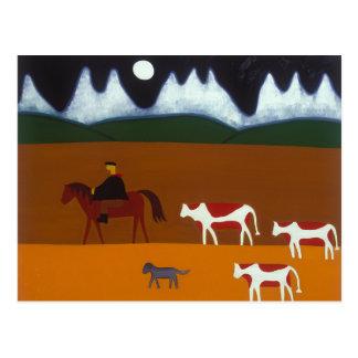 El gaucho y su ganado 2006 postal