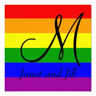 El gay #All50/el boda lesbiano invita Invitación 13,3 Cm X 13,3cm
