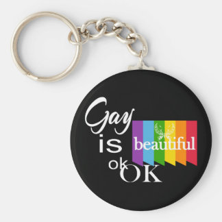 El gay del orgullo de LGBTQIA es ok.OK hermoso. Llavero Redondo Tipo Chapa