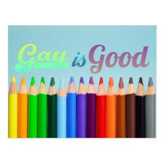 El gay es buen diseño postal