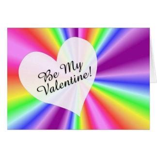 El gay/la lesbiana sea mi tarjeta del arco iris de