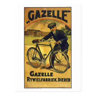 El Gazelle completa un ciclo el poster fino de la Postal