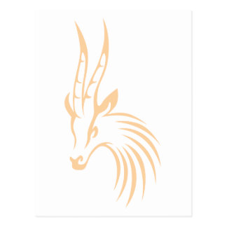 El Gazelle de Thomson en estilo del dibujo del Postal