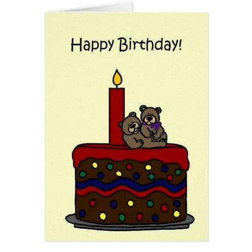 el gemelo del muchacho-chica refiere cumpleaños de tarjetas