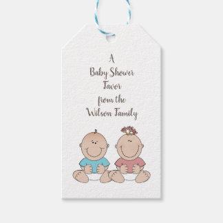 El género de dos bebés revela etiquetas del favor
