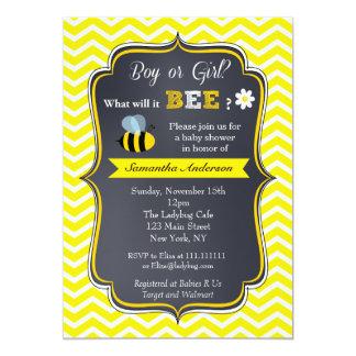 El género de la abeja revela invitaciones de la invitación 12,7 x 17,8 cm