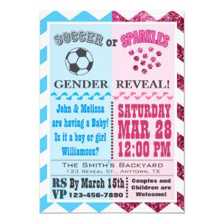El género del fútbol o de las chispas revela la invitación 12,7 x 17,8 cm