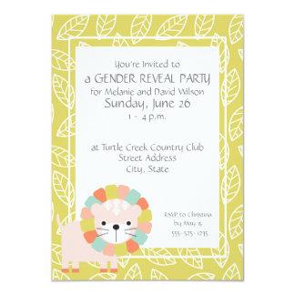 El género del león del bebé revela invitaciones invitación 11,4 x 15,8 cm
