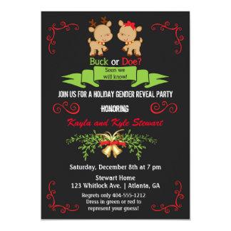 El género del navidad revela el dólar del fiesta o invitación 12,7 x 17,8 cm