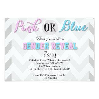 El género revela al fiesta invitación 8,9 x 12,7 cm
