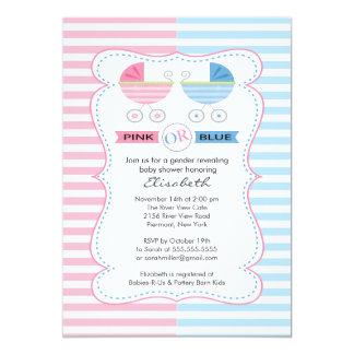 El género revela la fiesta de bienvenida al bebé invitación 12,7 x 17,8 cm