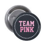 El género rosado del bebé de la pizarra del equipo pins
