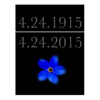 El genocidio armenio me olvida no postal