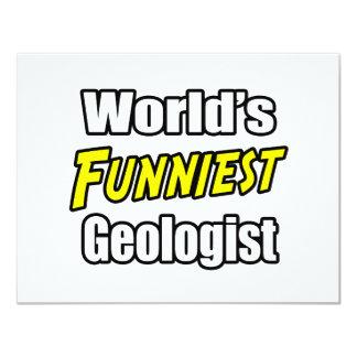 El geólogo más divertido del mundo invitación 10,8 x 13,9 cm