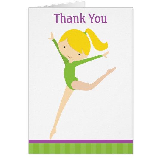 El gimnasta verde le agradece las tarjetas de nota