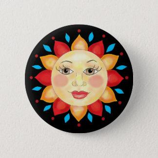 El girasol Sun hace frente al botón