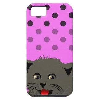 El girl_pink_desing dot_baby de Cat_polka iPhone 5 Case-Mate Protectores