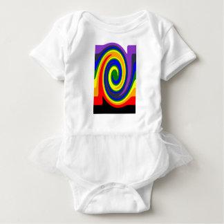 El giro agita el arco iris de colores, diseño de body para bebé