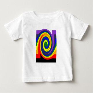 El giro agita el arco iris de colores, diseño de camiseta de bebé